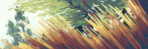 Sequoias and reeds and the tallest gold by 1ore