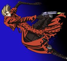 Old Art - Vash the Stampede by psycrowe