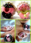 Loli Donut rings - chocolate and strawberry by Froggies-FA