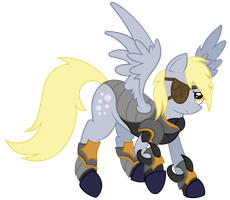 Derpy in Armor by EROCKERTORRES
