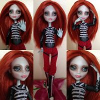 Danielle - monster high doll repaint ooak by Sonkisonki