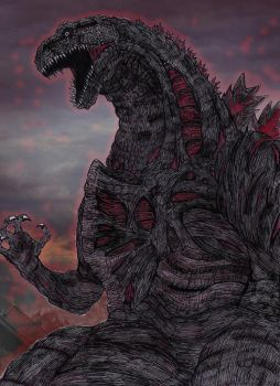 Shin Godzilla (Personal Take) by AVGK04