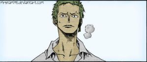 Roronoa Zoro [5] -colored- by MrsNami95