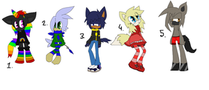 Sonic FC adoptables 79-closed- by DarkBlueGlass