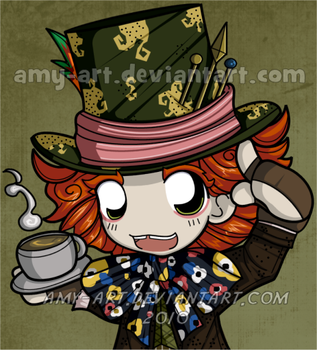Madhatter -Alice in Wonderland by amy-art