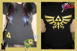 The legend of zelda T-shirt by TheDarkLittleBunnY