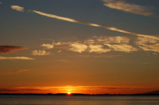 Crescent Beach sunset by snapdragon350