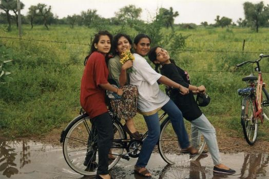 My Bicycle Gets Lucky In Rain by advait