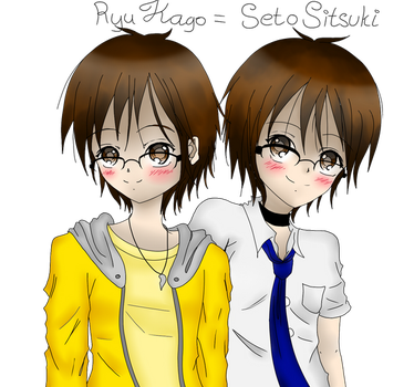 Two Sides of Myself -Colored- by naota-art