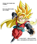 DB Heroes GM Hero ssj V3 Render by Metamine10