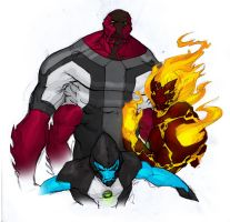 Super Alien Hero Buddy Adventures by leonardovincent