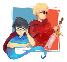 John and dave - homestuck by LaWeyD
