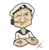 Popeye the sailor by Kryptoniano
