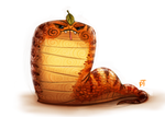 Day 534. Tsuchinoko by Cryptid-Creations