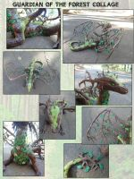 Forest Dragon Collage by ByToothAndClaw
