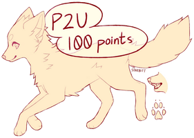 P2U Fox/Canine Lines 2 (MS Paint Friendly) by STARBITT
