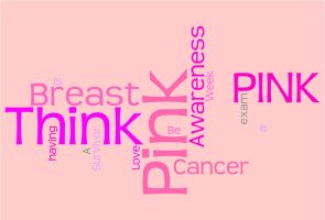 Think Pink Word Cloud by Moonchilde-Stock