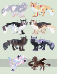 Adoptables batch [OPEN] by skeletonteaparty