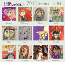 My Year in Art 2013 by 1313cookie