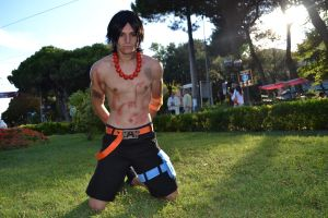 Ace Marineford cosplay by RedAceCosplay