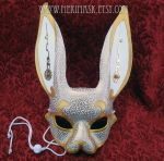 Clockwork Bunny Mask by merimask