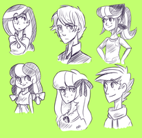 MLP OCs humanized by Looji