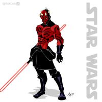 SW 05 - Darth Maul by RickCelis