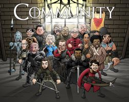 Winger Is Coming: Game of Thrones/Community Poster by TomBerryArtist