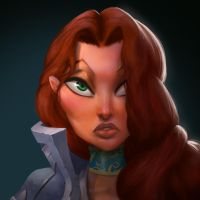 Dungeon Defenders Countess Portrait by DanielAraya