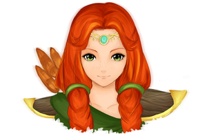 The Windranger gets there first! by Ketrin-tyan