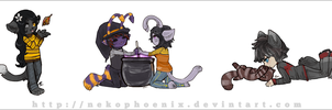 Darker Nights - Stream chibis by nekophoenix
