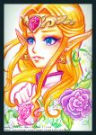 Crayola Crayon Ocarina of Time Princess Zelda by Lemia