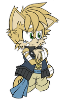 Mamoru Doodle II, with base color by DragonQuestHero
