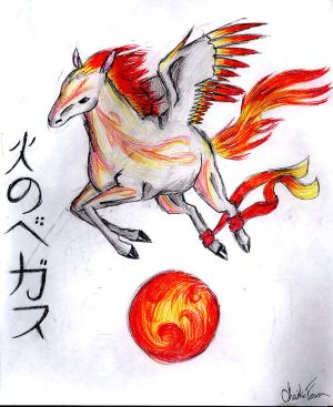 pegasus of fire