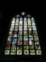 Ghent St. Baafs cathedral Stained glass window 1 by BlokkStox