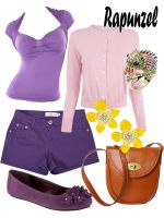Disney Fashion: Rapunzel (Purple Dress) by EvilMay
