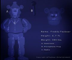 Freddy Fazbear Blueprint by Some-Crappy-Edits
