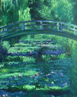 My Copy Of Monet's Waterlilies And Japanese Bridge by RosVailintin