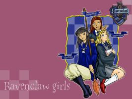 Ravenclaw Girls Wallpaper by menelmaranwe