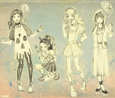 Harajuku Girls by lehanilee