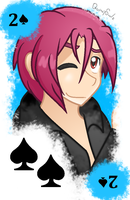 Rin - two of spades card by QuincySoulz