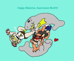 Sammy and Shimmers celebrate Manatee Awareness Mon by 101boy
