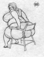 Big Woman, Small Chair by SpratFA