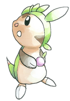 Chespin old Sugimori devamped by GalifiaStudios