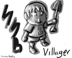 super smash bros Villager by kronoshooko