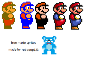 Free Mario Sprite Evolution by robpoop123