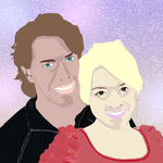Vector Couple Painting by thinminmeg