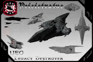 Peisistratus Class Destroyer(Redux) by samurairyu