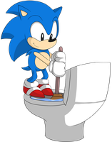//Commish//Sonic Cleaning A Toliet For Some Reason by pastelhoodie
