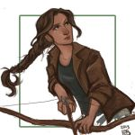 Katniss Sketch by Ratgirlstudios